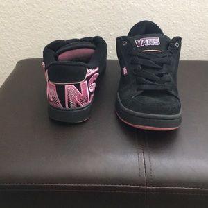 Black & Pink Vans skater sneakers